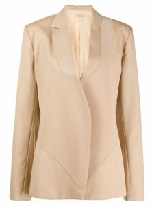 Nina Ricci panelled single-breasted blazer - NEUTRALS