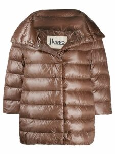 Herno 3/4 sleeve puffer jacket - Brown