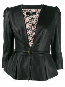 Elisabetta Franchi tie waist blazer - Black