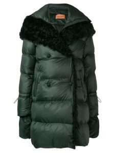 Yves Salomon double-breasted padded coat - Green