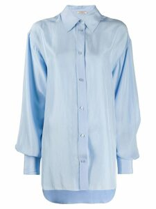 Nina Ricci oversized pointed collar shirt - Blue