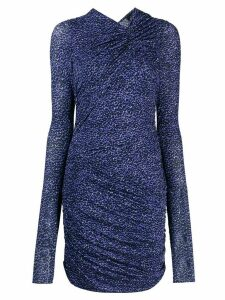Isabel Marant ruched printed dress - Blue