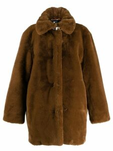Luisa Cerano faux fur coat - Brown
