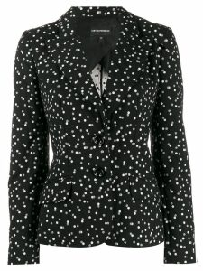 Emporio Armani long sleeve printed blazer - Black