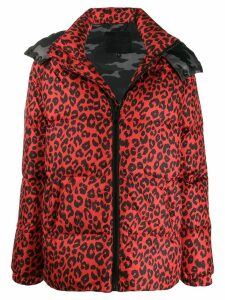 Philipp Plein Maculate leopard print padded jacket - Red