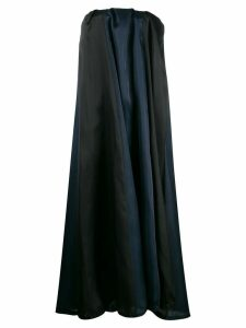 Nina Ricci oversized strapless dress - Blue