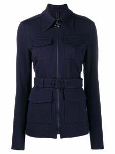 Victoria Victoria Beckham belted fitted jacket - Blue