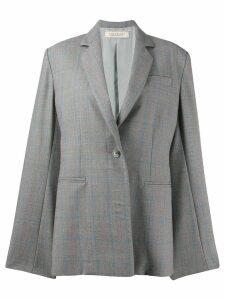 Nina Ricci checked single-breasted blazer - Grey