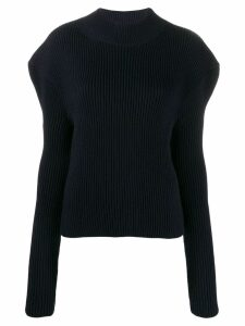 Nina Ricci structured shoulder ribbed jumper - Blue