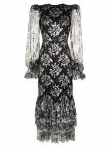The Vampire's Wife Night Bird lace-embroidered midi dress - Black