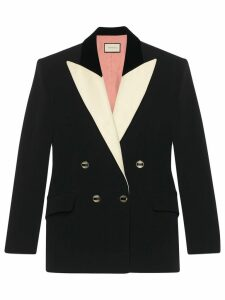 Gucci double-breasted tuxedo blazer - Black