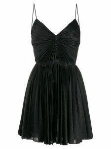 Saint Laurent pleated short dress - Black