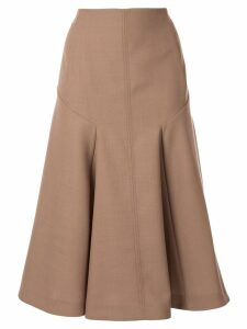 Joseph high-waisted A-line skirt - Brown