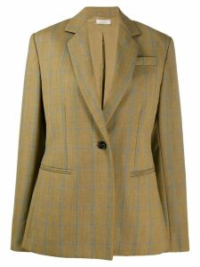 Nina Ricci check oversized blazer - NEUTRALS