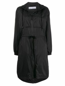 Paco Rabanne metallic drawstring hooded parka - Black