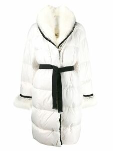 Ermanno Scervino belted wool coat - White
