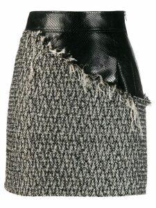 Almaz contrast tweed mini skirt - Grey