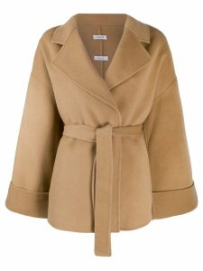 P.A.R.O.S.H. belted wrap-style coat - Neutrals