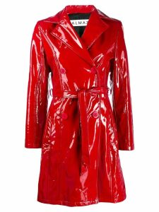 Almaz patent trench coat - Red