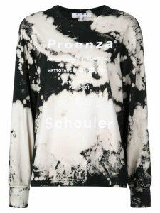 Proenza Schouler PSWL Bleach Splatter T-Shirt - White