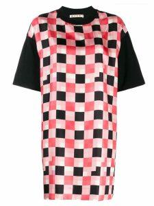 Marni check print shift dress - Black