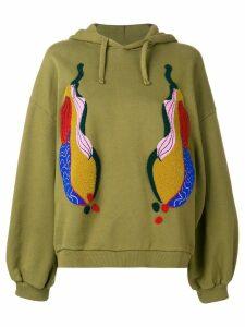 Henrik Vibskov Blossom Aubergine hoodie - Green