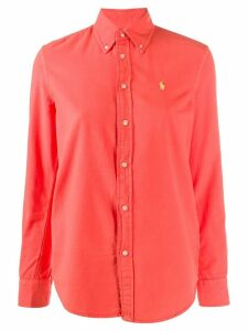 Polo Ralph Lauren stitched logo shirt - ORANGE