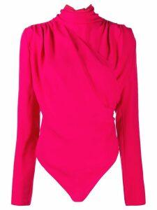 Magda Butrym pussy bow bodysuit - Pink