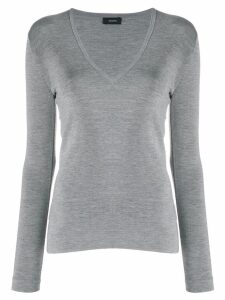 Joseph v-neck fine knit jumper - Grey