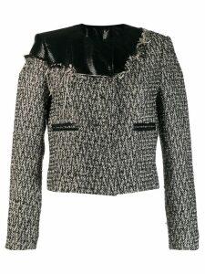 Almaz fabric mix jacket - Black