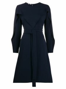Stella McCartney long-sleeved flared dress - Blue