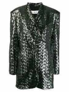 Almaz mid-length metallic blazer - Silver