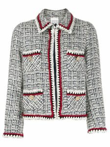 Edward Achour Paris tweed collared jacket - Blue