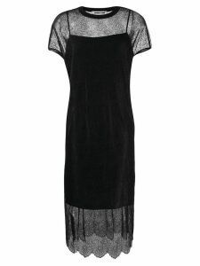 McQ Alexander McQueen lace slip dress - Black