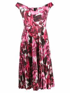 Prada off-the-shoulder floral print dress - Pink