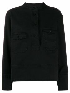 YMC long-sleeve pullover shirt - Black