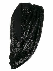 Magda Butrym embellished draped top - Black
