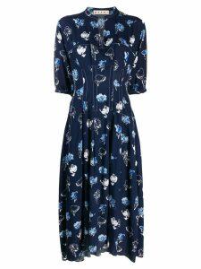 Marni graphic print shirt dress - Blue