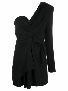 Saint Laurent one shoulder dress - Black