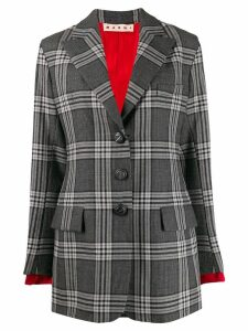Marni checked tailored blazer - Black
