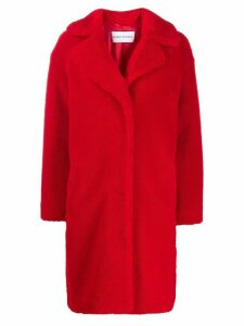 STAND STUDIO concealed fastened coat - Red