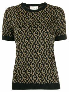 Gucci GG Rhombus jacquard knitted top - Black