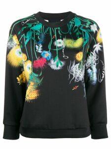Cavalli Class floral print sweatshirt - Black