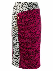 Cavalli Class leopard print pencil skirt - Pink