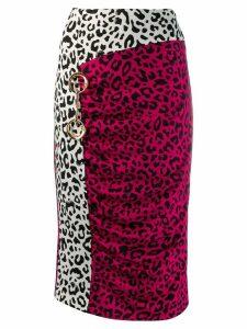 Cavalli Class leopard print pencil skirt - PINK