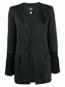 Cavalli Class fringe-trimmed blazer - Black