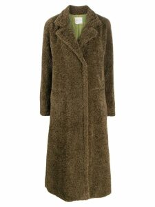 Forte Forte faux shearling midi coat - Green