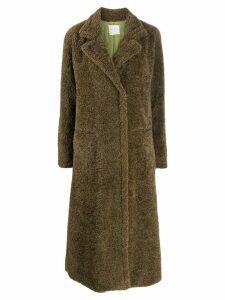 Forte Forte faux shearling midi coat - Green