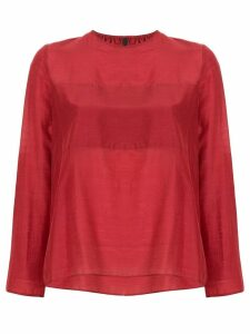 Sara Lanzi round neck blouse - Red