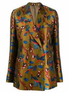 Christian Wijnants floral print blazer - Brown